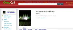 My profile in okeycall