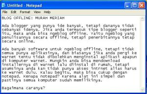 Ngeblog dengan Notepad