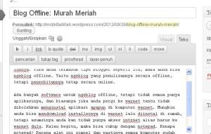 Blogging Murah Meriah
